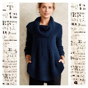 Angle of the North Anthro Cabled Boucle Pullover